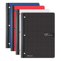 "Office Depot® Brand Composition Notebook, 8 1/2"" x 11"", Quadrille Ruled, 160 Pages (80 Sheets), Assorted Colors"