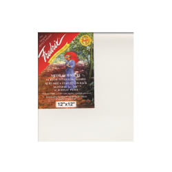 """Fredrix Red Label Stretched Cotton Canvases, 12"""" x 12"""" x 11/16"""", Pack Of 2"""