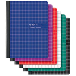 "Office Depot® Brand Composition Book, 7 1/4"" x 9 3/4, 1 Subject, Quadrille Ruled, 160 Pages (80 Sheets), Assorted Colors"