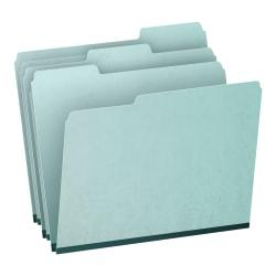 Pendaflex® 1/3-Cut Pressboard Tab Folders, Letter Size, 65% Recycled, Blue, Box Of 25