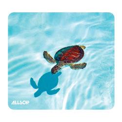 """Allsop® Naturesmart™ Mouse Pad, 8.5"""" x 8"""", Turtle, Blue"""