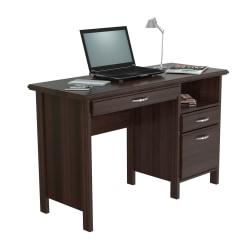 "Inval Contemporary  47""W Computer Desk, Espresso-Wengue"