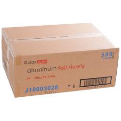 """Daxwell® Aluminum Foil Sheets, 12""""W x 10 3/4""""L, 500 Sheets Per Box, Case Of 6 Boxes"""