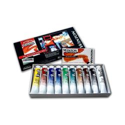 Winsor & Newton Winton Oil Color Basic Set, 21 mL, Set Of 10 Tubes