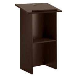 "Bush Business Furniture Lectern, 48"" x 24"", Mocha Cherry, Standard Delivery"