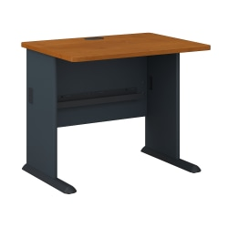 "Bush Business Furniture Office Advantage Desk 36""W, Natural Cherry/Slate, Standard Delivery"