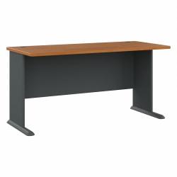 "Bush Business Furniture Office Advantage Desk 60""W, Natural Cherry/Slate, Standard Delivery"