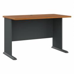 "Bush Business Furniture Office Advantage Desk 48""W, Natural Cherry/Slate, Standard Delivery"