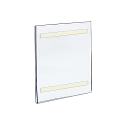 """Azar Displays Acrylic Sign Holders With Adhesive Tape, 11"""" x 7"""", Clear, Pack Of 10"""