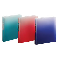 """Office Depot® Brand Everbind Fashion 3-Ring Binder, 1"""" Round Rings, Ombre Smoke, Pack Of 12"""
