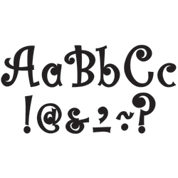 """Teacher Created Resources Bling Letters With Jewels, 7"""", Black, Pre-K - Grade 8, Pack Of 202"""