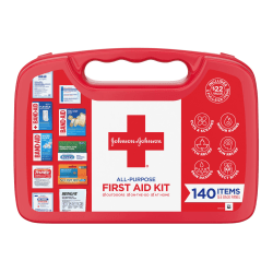 Johnson & Johnson All Purpose First Aid Kit, 140 Pieces