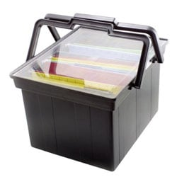 Advantus Companion Letter/Legal Portable File, B9 Size, Black