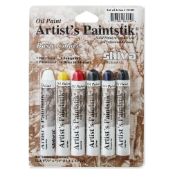 Shiva Artist's Paintstik Oil Color Set, Basic Colors Set, Set Of 6
