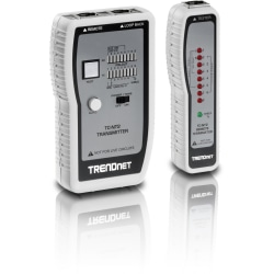 TRENDnet Network Cable Tester, Tests Ethernet, USB And BNC Cables, Accurately Test Pin Configurations up to 300m (984 ft), Local And Remote Testing, Includes BNC To Ethernet Converters, White, TC-NT2 - Network Cable Tester (TP & Coax)