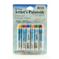 Shiva Artist's Paintstik Oil Color Set, Iridescent Primary Colors Set, Set Of 6