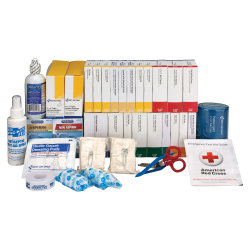 """First Aid Only 446-Piece ANSI B+ Refill Kit, 8 3/4""""H x 9 1/8""""W x 13 1/4""""D, White/Blue"""