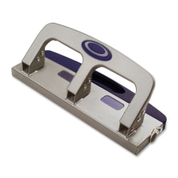 OIC® Deluxe Standard 3-Hole Punch With Drawer, Silver