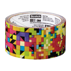 """Scotch® Colored Duct Tape, 1 7/8"""" x 10 Yd., Crazy Pattern"""