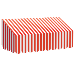 """Teacher Created Resources Classroom Awning, 12 1/2""""H x 24""""W x 8""""D, Red/White Stripes"""