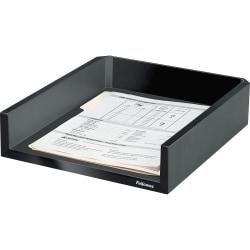 "Fellowes Designer SuitesLetter Tray - 2.5"" Height x 11.1"" Width x 13"" Depth - Desktop - Black, Pearl - 1 Each"