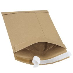 """Office Depot® Brand Kraft Self-Seal Padded Mailers, #1, 7 1/4"""" x 12"""", Pack Of 25"""