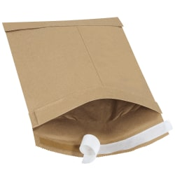"""Office Depot® Brand Kraft Self-Seal Padded Mailers, #0, 6"""" x 10"""", Pack Of 250"""