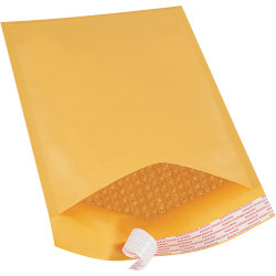 """Office Depot® Brand Kraft Self-Seal Bubble Mailers, #3, 8 1/2"""" x 14 1/2"""", Pack Of 25"""