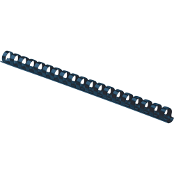 "Fellowes 19-ring Plastic Comb Binding - 0.4"" Height x 10.8"" Width x 0.4"" Depth - 55 x Sheet Capacity - For Letter 8 1/2"" x 11"" Sheet - Navy - Plastic - 100 / Pack"