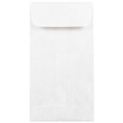 "JAM Paper® Tyvek® #7 Coin Envelopes, 3-1/2"" x 6-1/2"", White, Pack Of 50 Envelopes"