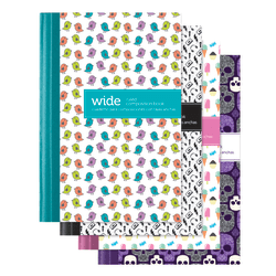 """Office Depot® Brand Mini Fashion Composition Book, 3 1/4"""" x 4 1/2"""", Wide Ruled, 80 Sheets, Assorted Designs (No Design Choice)"""