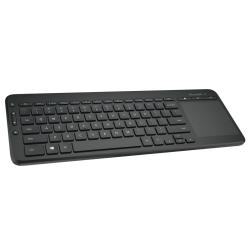 "Microsoft® Wireless All-In-One Media Keyboard, 14-15/16""L x 5-5/8""W x 1/5""D, Black, N9Z-00001"