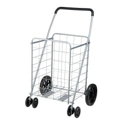 """Honey-Can-Do High-Performance Steel Folding Utility Cart, 39""""H x 21 5/8""""W x 24""""D, Gray, Standard Delivery"""