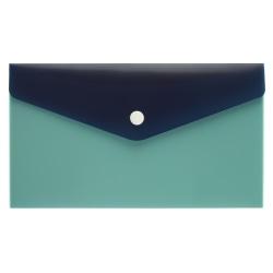 "Office Depot® Brand Poly Envelope, 2"" Expansion, Check Size, Blue/Navy"