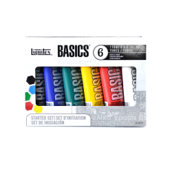 Liquitex Basics Value Series Acrylic Colors, 4 Oz, Assorted Colors, Set Of 6