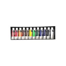 Liquitex Basics Value Series Acrylic Colors, 0.74 Oz, Assorted Colors, Set Of 12