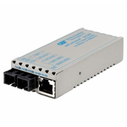 miConverter 10/100 Ethernet Fiber Media Converter RJ45 SC Single-Mode 30km Wide Temp - 1 x 10/100BASE-TX, 1 x 100BASE-LX, No Power Adapter, Lifetime Warranty