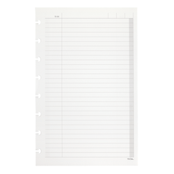 """TUL™ Custom Note-Taking System Discbound Refill Pages, 5 1/2"""" x 8 1/2"""", Junior Size, To Do List Format, 100 Pages (50 Sheets), White"""