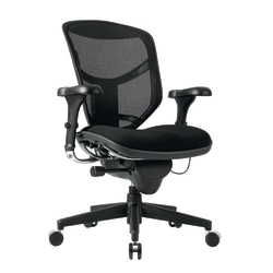WorkPro® Quantum 9000 Series Mesh/Fabric Mid-Back Desk Chair, Black