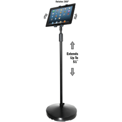 Kantek Tablet Floor Stand - Floor Stand - Black