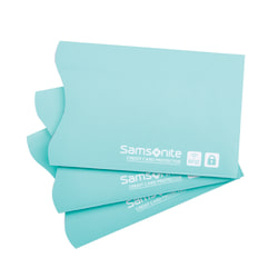 Samsonite® RFID Sleeves, Turquoise, Pack Of 3
