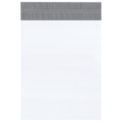 "Office Depot® Brand Returnable Poly Mailers, 14"" x 17"", White, Case Of 100"