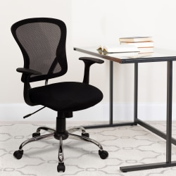 Flash Furniture Mesh Mid-Back Task Chair, Black/Chrome