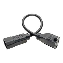 Tripp Lite Standard Computer Power Cord - 10A, 18AWG (IEC-320-C14 to NEMA 5-15R) 1-ft.