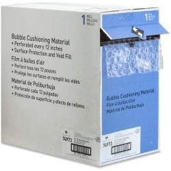 "Sparco Dispenser Carton Bubble Cushioning - 12"" Width x 100 ft Length - 0.3"" Bubble Size - Dispenser, Flexible, Lightweight - Polyethylene - Clear"