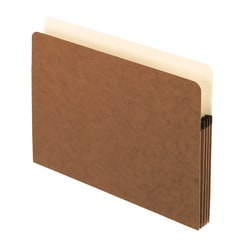 """Pendaflex® Standard File Pockets, 30% Recycled, 3 1/2"""" Expansion, Letter Size, Redrope, Box Of 25 Pockets"""