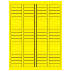 """Office Depot® Brand Labels, LL170YE, Rectangle, 1 3/4"""" x 1/2"""", Fluorescent Yellow, Case Of 8,000"""