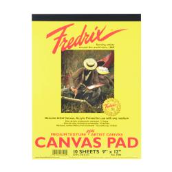 "Fredrix Canvas Pad, 9"" x 12"", 10 Sheets"