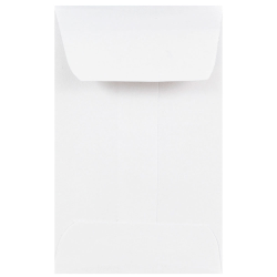 """JAM Paper® Open-End Coin Envelopes, #1, 2-1/4"""" x 3-1/2"""", White, Pack Of 100 Envelopes"""