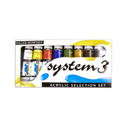 Daler-Rowney System 3 Acrylic Paint Set, Selection Set, 75 mL, Pack Of 8